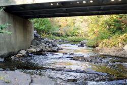 Pont Grégoire, la rivière obstruée