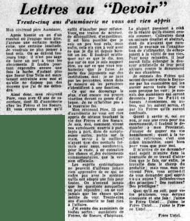 Le Devoir 10 août 1960 (BANQ)