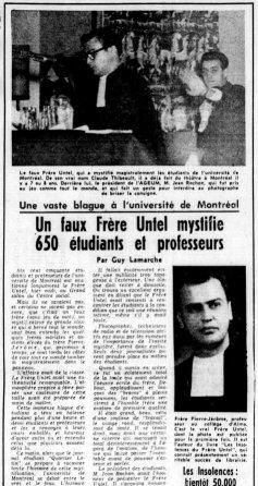 Le Devoir 21 octobre 1960 (BANQ)