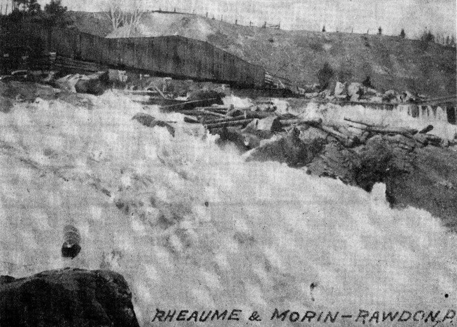 Le pont couvert de la Chute à Magnan (Col. M. Fournier)