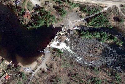 Le barrage de Rawdon (vue satellite)
