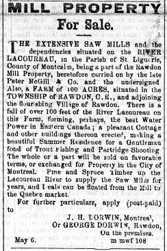 Montreal Herald 9 mai 1864