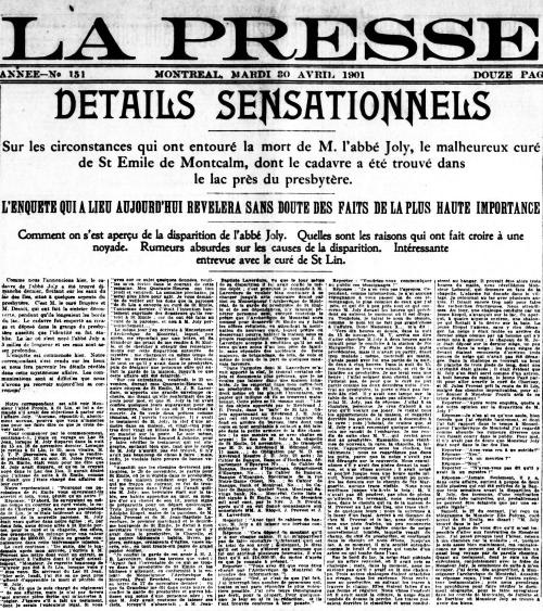 La Presse 30 avril 1901