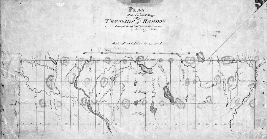 Carte du nord de Rawdon 1844