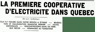 L'électrification des campagnes 1945