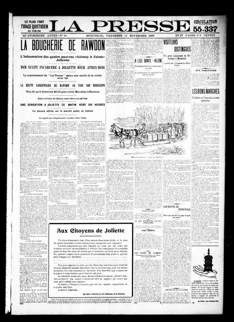 La Presse 12 novembre 1897