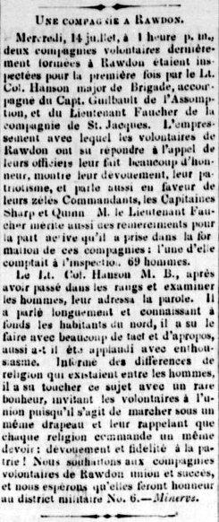 La Gazette de Joliette 22 septembre 1869