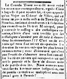 L'Aurore des Canadas 19 novembre 1841