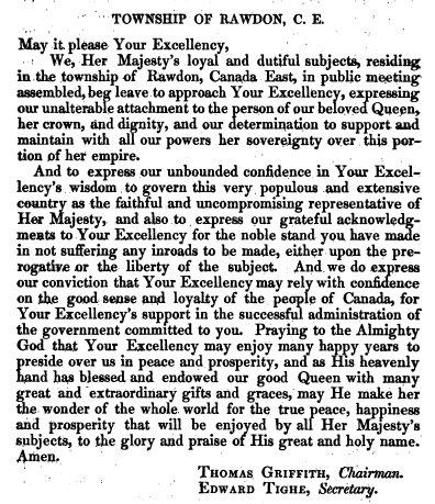 1844 - Adresses au gouverneur