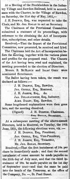 Montreal Herald 18 juin 1851