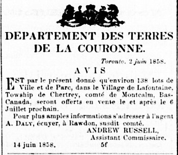 Le Courrier du Canada 25 juin 1858