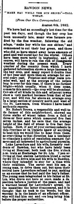 Daily Witness 10 août 1882