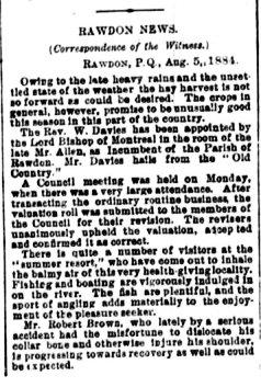 Daily Witness 7 août 1884