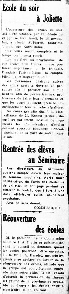 L'Étoile du Nord 14 novembre 1918