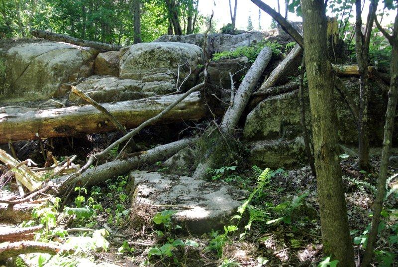 Le cap de roche sculpté