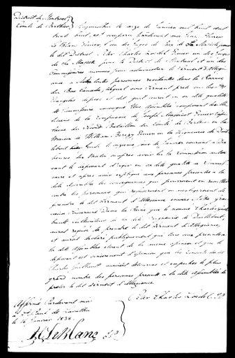 Déposition de Peter Charles Loedel, juge de paix (16 janvier 1838)