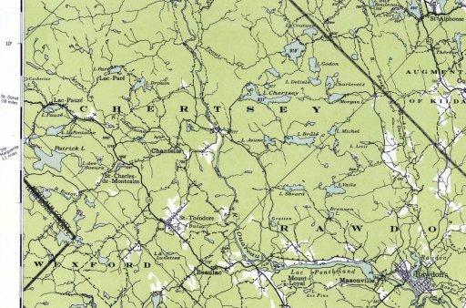 Carte topographique du Canada 1951