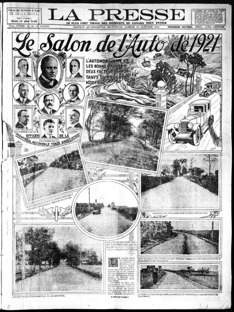 La Presse 22 janvier 1921