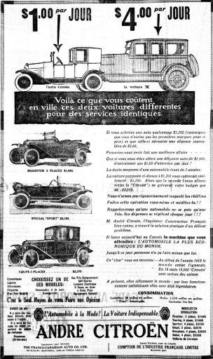 Citroën en Amérique