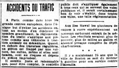 Accidents du trafic