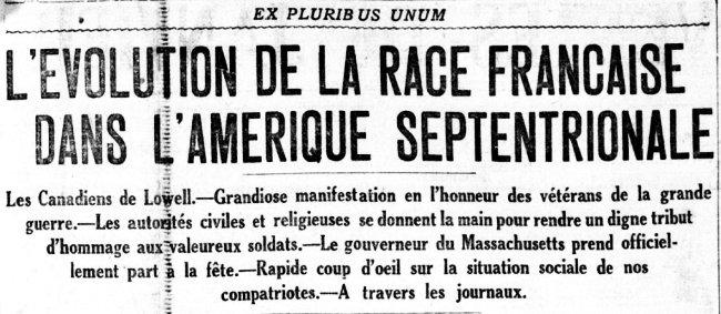 L'évolution de la race française