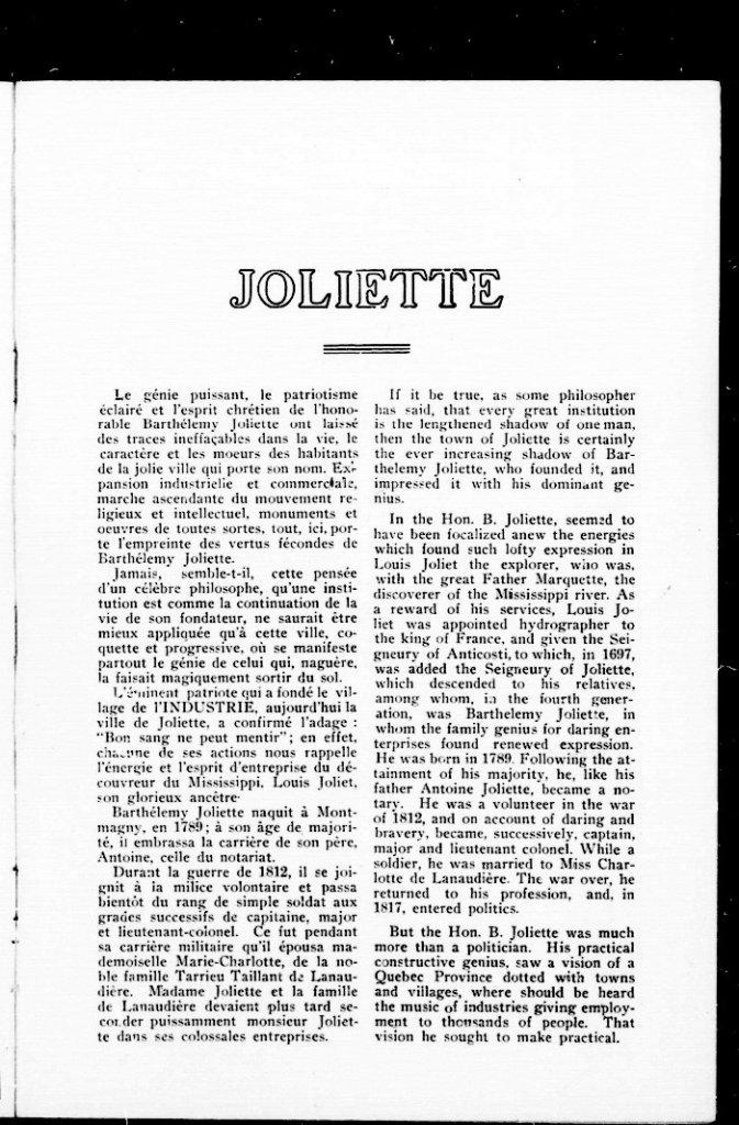 Joliette 1913