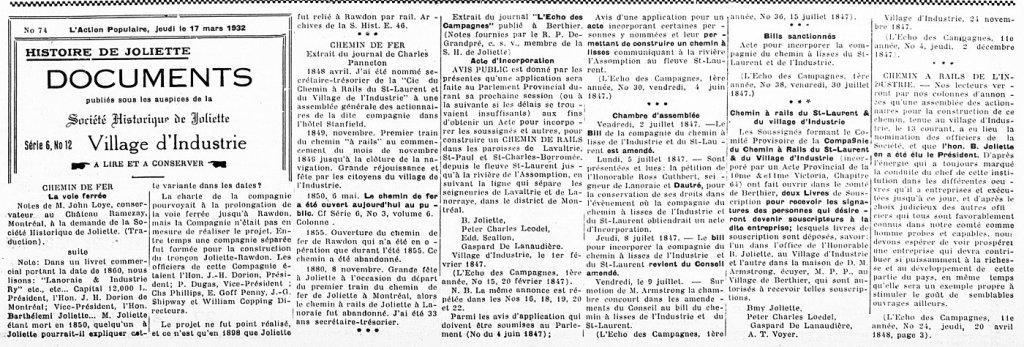 L'Action Populaire 17 mars 1932