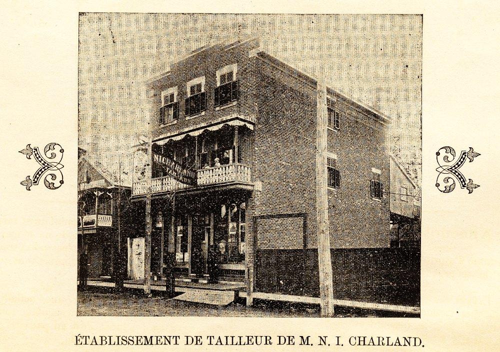 Établissement de tailleur de M. N. I. Charland