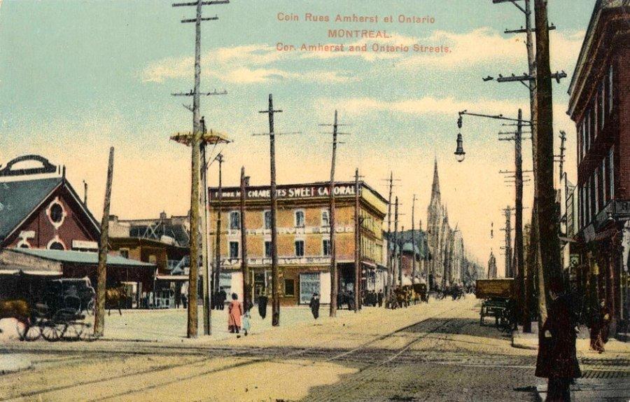 Coin rues Amherst et Ontario, Montréal