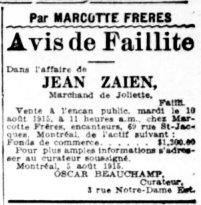 La Presse 6 août 1915