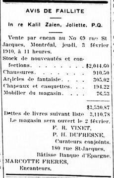Étoile du Nord 27 janvier 1910
