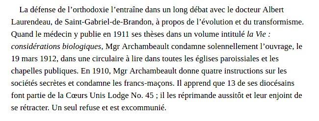 Biographie de Mgr Archambault