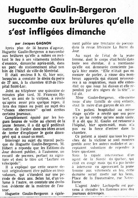 La Presse 7 juin 1972