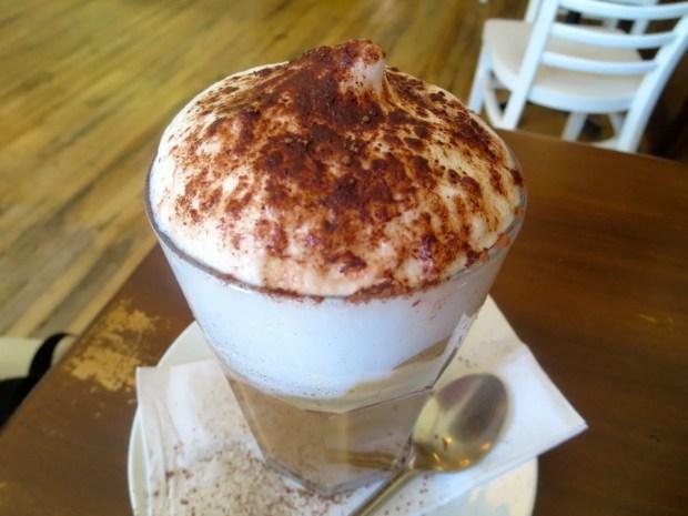 Cafe Baobab. Cappuccino. Photo Rachel Levine