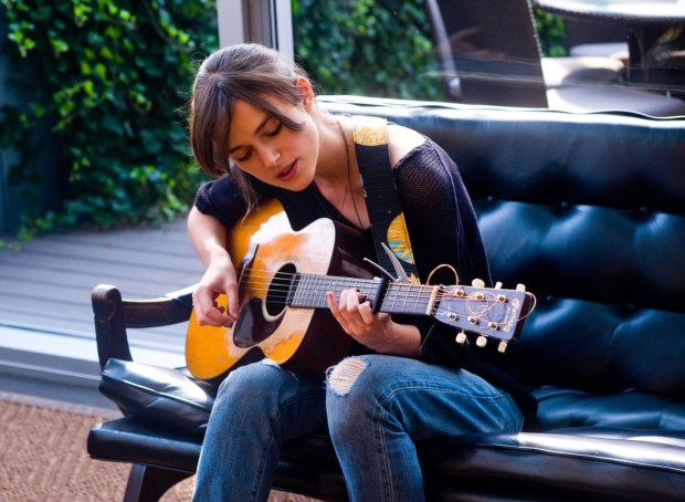 Keira Knightly in Begin Again.