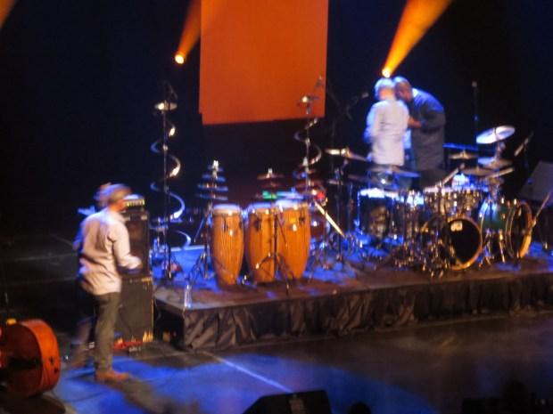 Dodoo helps Baker off stage. MOntreal Jazz Fest