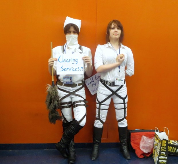 Amylee Levelle and Helene Bavette as Sasha Brewws and Levi Rivaille. Otakuthon. Photo Rachel Levine
