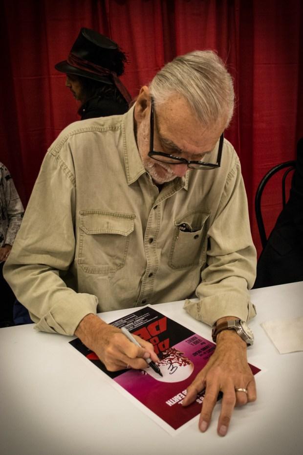 George A. Romero. Montreal comiccon. Photo Jean Frederic Vachon.