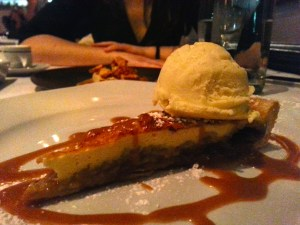 Sugar Tart with Cumin Infused Caramel and Vanilla Icecream. Photo by Annie Shreeve
