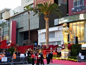 The red carpet at the Dolby Theatre (formerly the Kodak Theatre) in Hollywood during the 81st Academy Awards. Photo credit: BDS2006/Wikimedia Commons