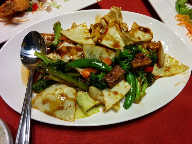 Basil Tofu with Vegetables. Emeraud de Bangkok. Photo Esther Szeben