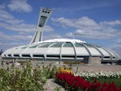 Montreal's Olympic Stadium, designed by Roger Taillibert for the 1976 event. Photo credit: Tolivero/Wikimedia Commons.