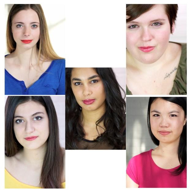 Artista ParticipantArtista Participant Headshots. Clockwise: Olivia, Sarah, Katherine, Bruna and Tiernan (center). Photos by Clarice Byrne