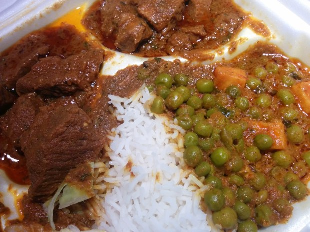 lamb and beef dishes. Restaurant Thali. Photo Esther Szeben.