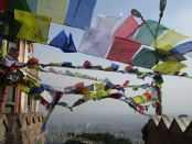 prayer flags at swayambunath. photo Rachel Levine