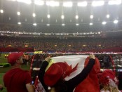 Canadian fans fill the stadium.