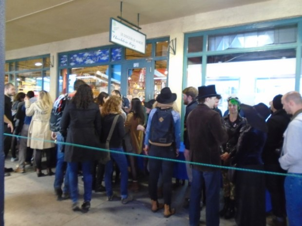 Line for Microbrewery. Atwater Market Oktoberfest. Photo Adam Shaw.