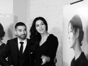 Guy Edouin and Monica Bellucci. Photo by Krystele Jacquemot.