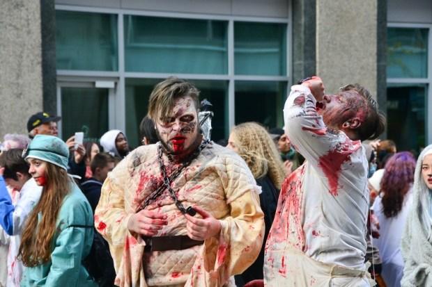 Zombie Walk. Place des Arts. Halloween 2015. Photo Marlene Wilson