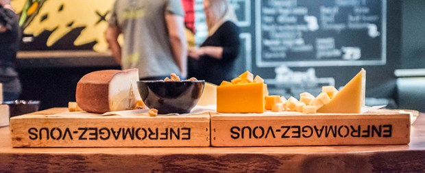 Selection of Cheeses Used. MLT DWN. Mt. Royal. Plateau. Photo Laura Dumitriu